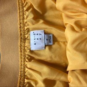 Skirts - Yellow Flowy High Waisted Skirt
